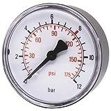 ELMAG 42220 Druckluft Manometer 40 mm 0-10 bar mit Außengewinde hinten 1/8'