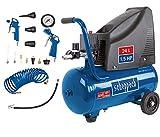 Scheppach Kompressor HC25o (1100W, 24 L, 8 bar, Ansaugleistung 165 l/min, Druckminderer,...